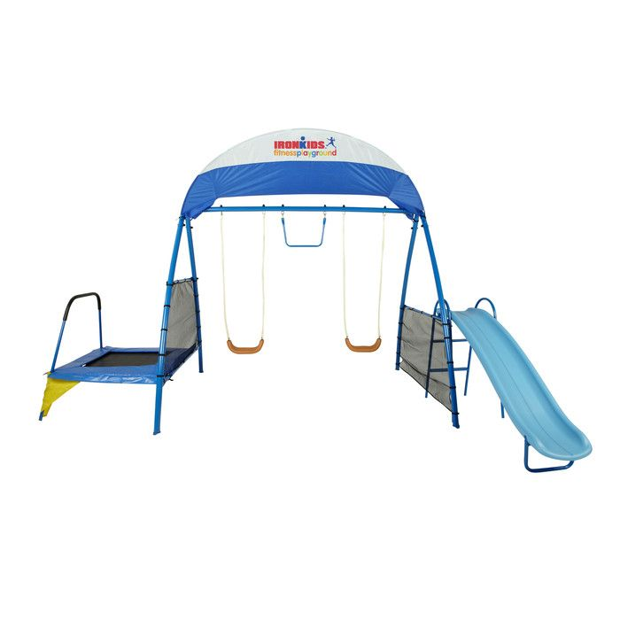 IronKids Premier 100 Fitness Swing Set & Reviews | Wayfair | Things ...