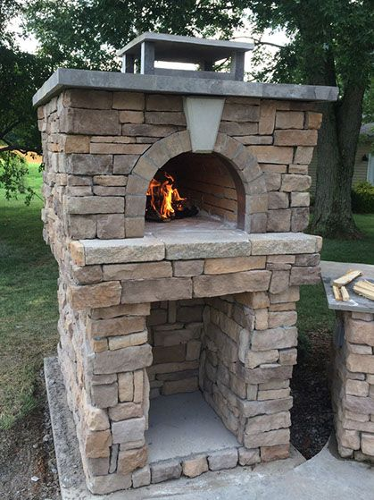 Boswell Family Wood-Fired Outdoor Brick Pizza Oven | Brick ...