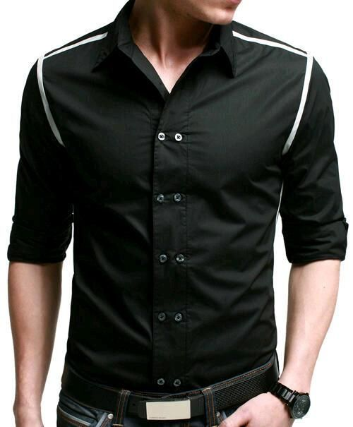 Fabric Cotton Color Black Quality Premium Type Casual Shipment 24   48 hours via Cash on Delivery Availability Within 710 Working Days Delivery Charges Free with in the Pakistan is part of Men shirt style -