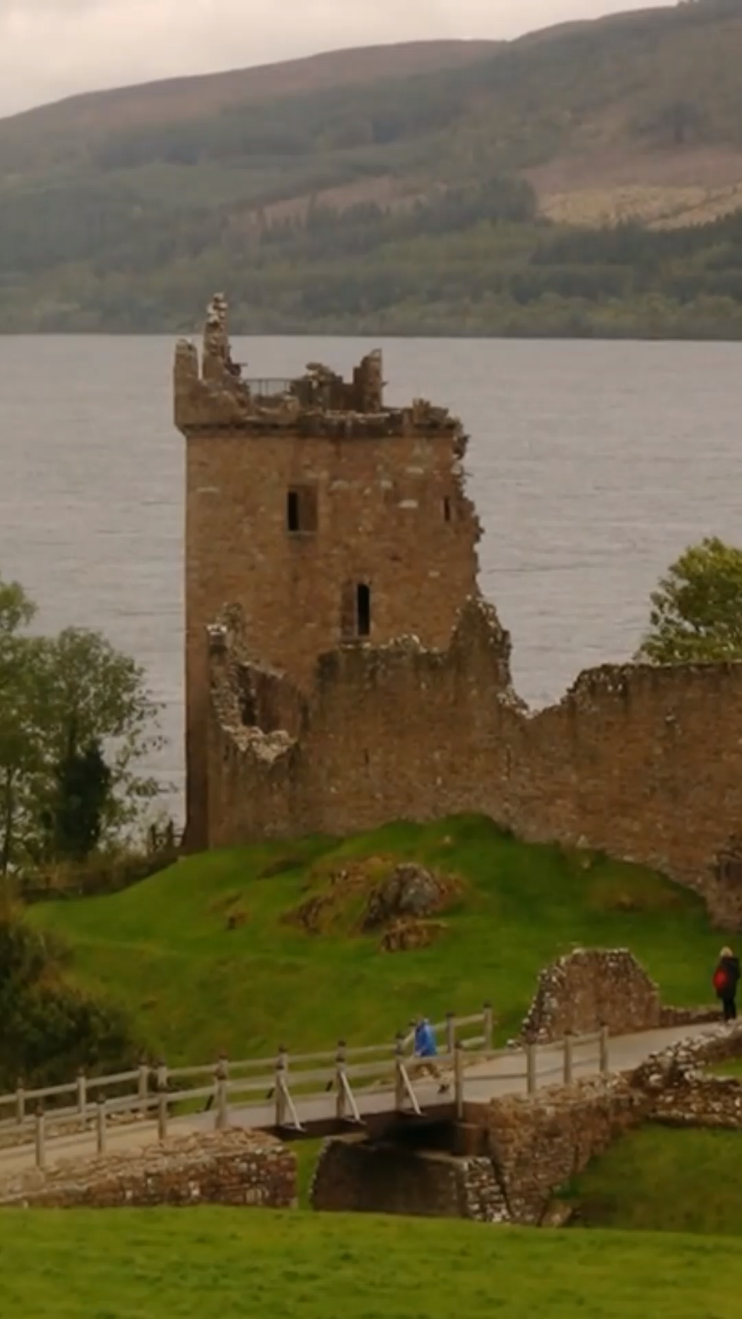 The Magnificently Situated Urquhart Castle overlooking Loch Ness. A Clan Grant stronghold, Urquhart Castle stands with commanding presence guarding the Great Glen. The castle was begun in the 13th century, and because of its strategic position, it has a complex history of military offense and defence, as well as its own destruction and renovation. It was fought over by Robert the Bruce of Scotland and Edward I of England during the Wars of Independence in the 13th century.
