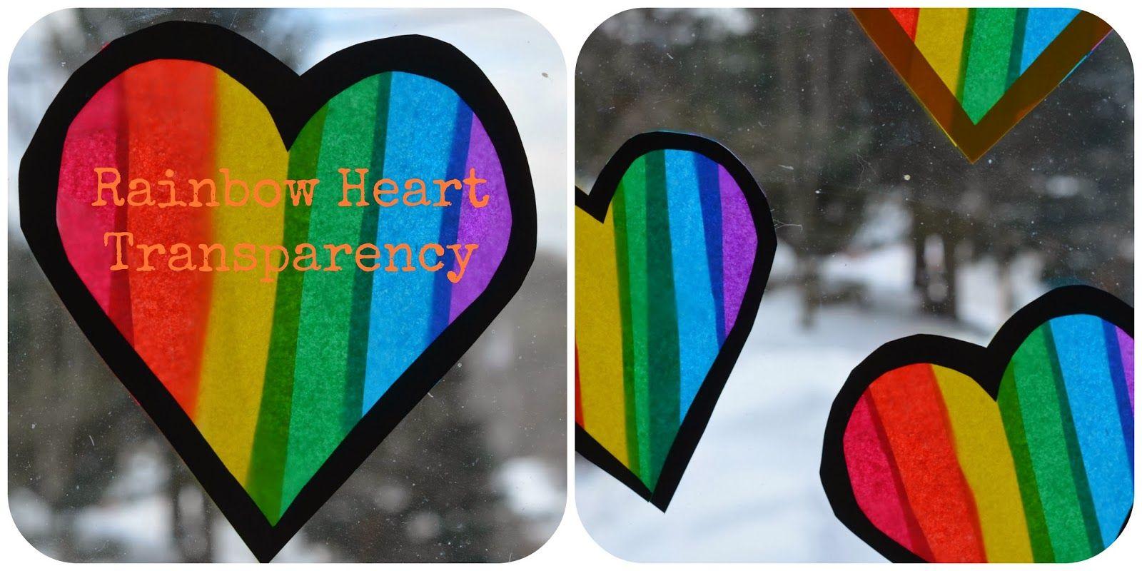 Image result for rainbow heart suncatcher craft