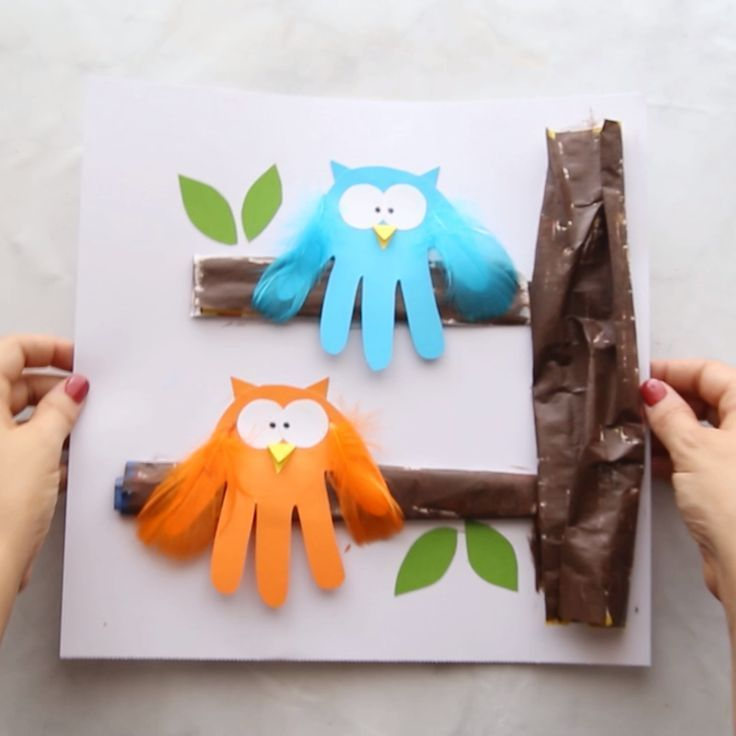 Owl Handprint - The Best Ideas for Kids