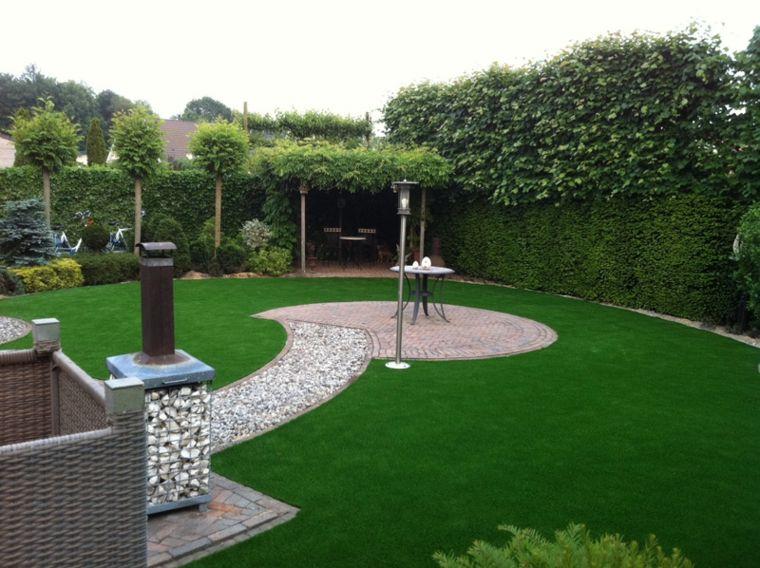 Cesped Artificial Front Garden Garden Plants