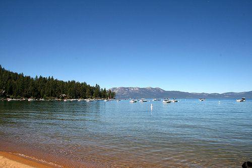 Zephyr Cove Beach, Lake Tahoe / http://www.sleeptahoe.com/zephyr-cove-beach-lake-tahoe-3/