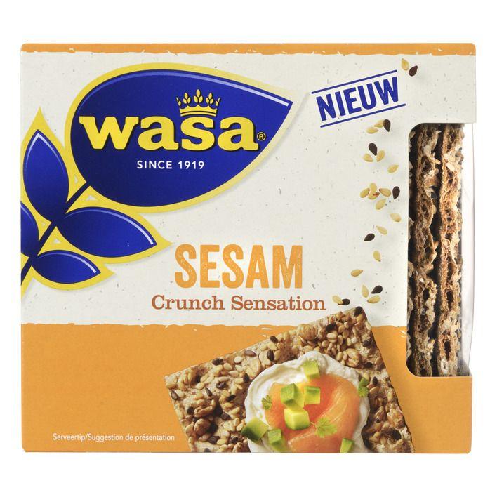 Wasa Crunch sensation sesam 220 g online bestellen | AH.nl
