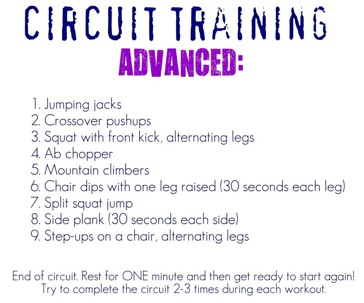 Blissfully Ever After: Circuit Training Workouts~ At Home