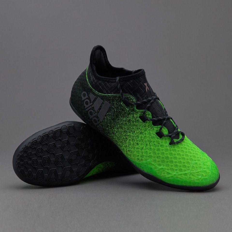 Adidas X Tango 16 1 In Mens Boots Indoor Solar Green Core Black Copper Metallic Pro Direct Soccer Sepatu