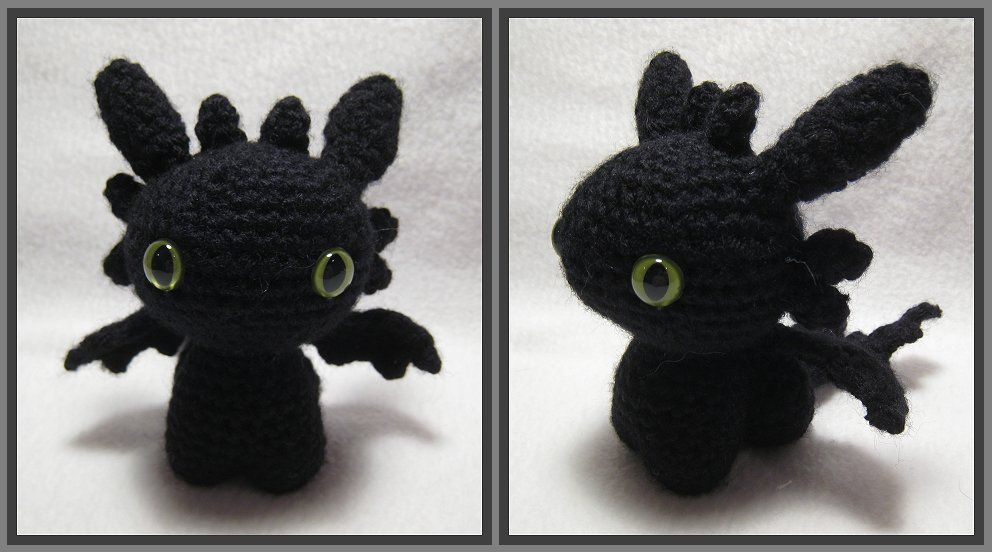 Amigurumi pattern for dragon, Toothless crochet pattern, Night ... | 552x992