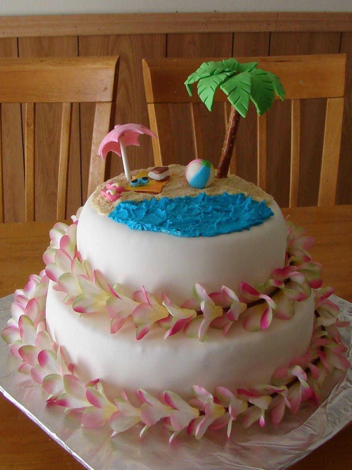 tropicalthemedbridalshowercakes my cake hobby hawaiian bridal shower cake