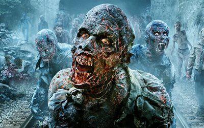 Scarica sfondi serie, zombie, walking dead