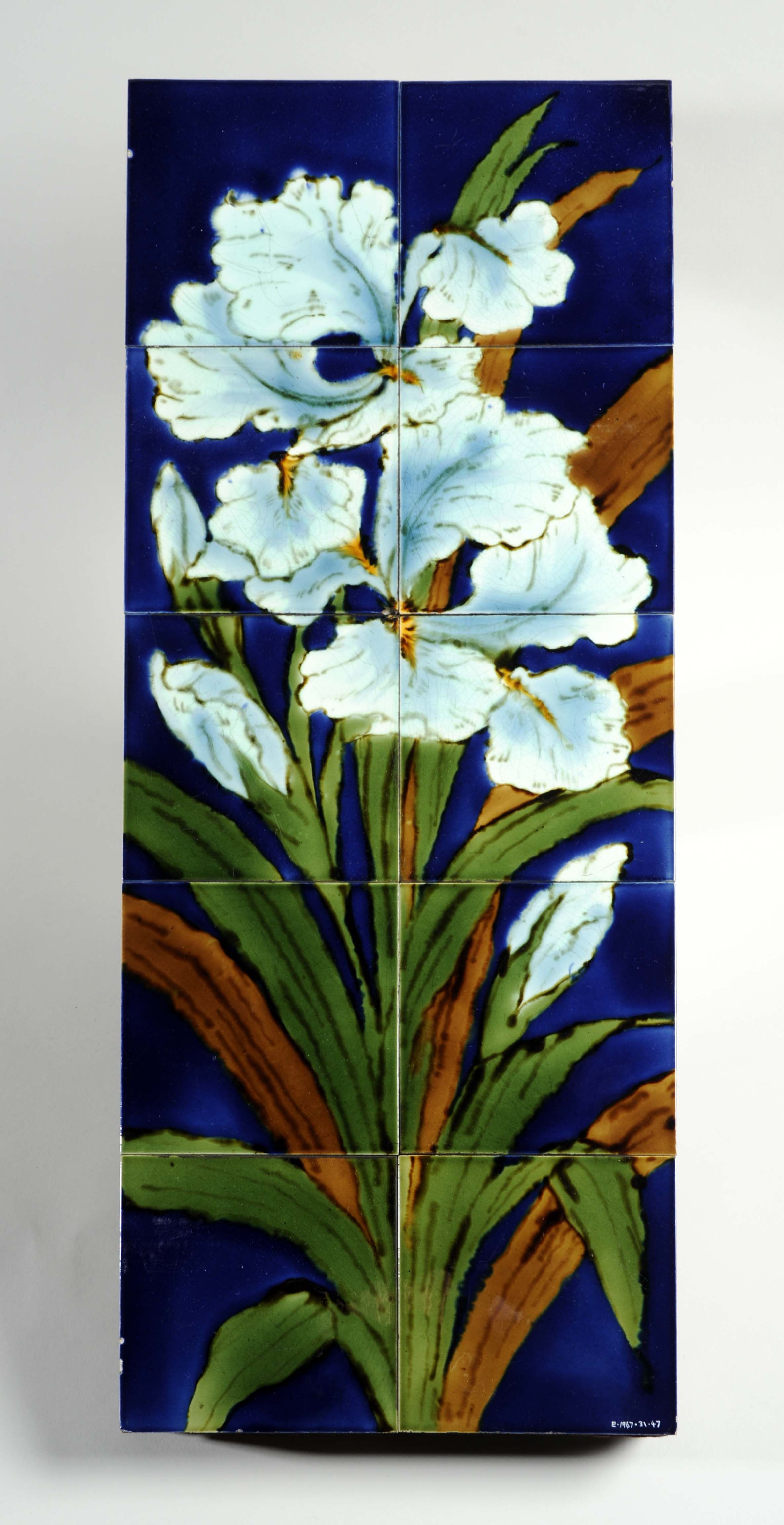 Burmantoft Tiles 1885 1889 Irises Are A Well Known Spring Flower