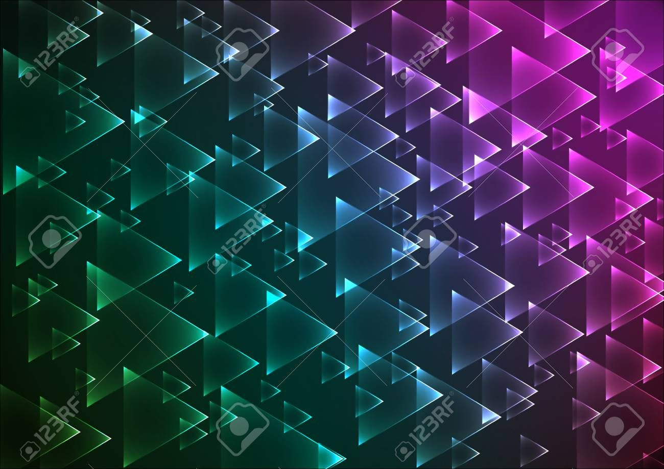 Flat multi gradient geometric rectangle background ,