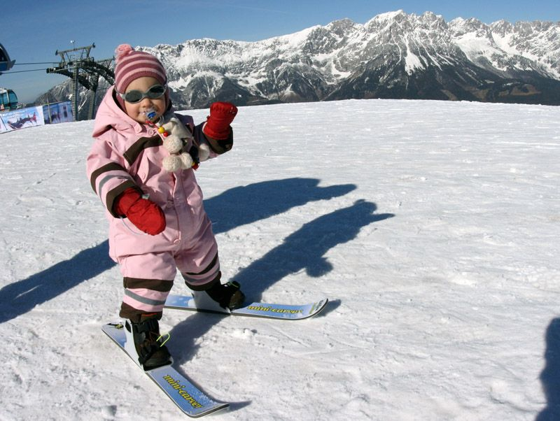 Adorable Minicarver Baby Ski Baby Skiing Baby In Snow Skiing