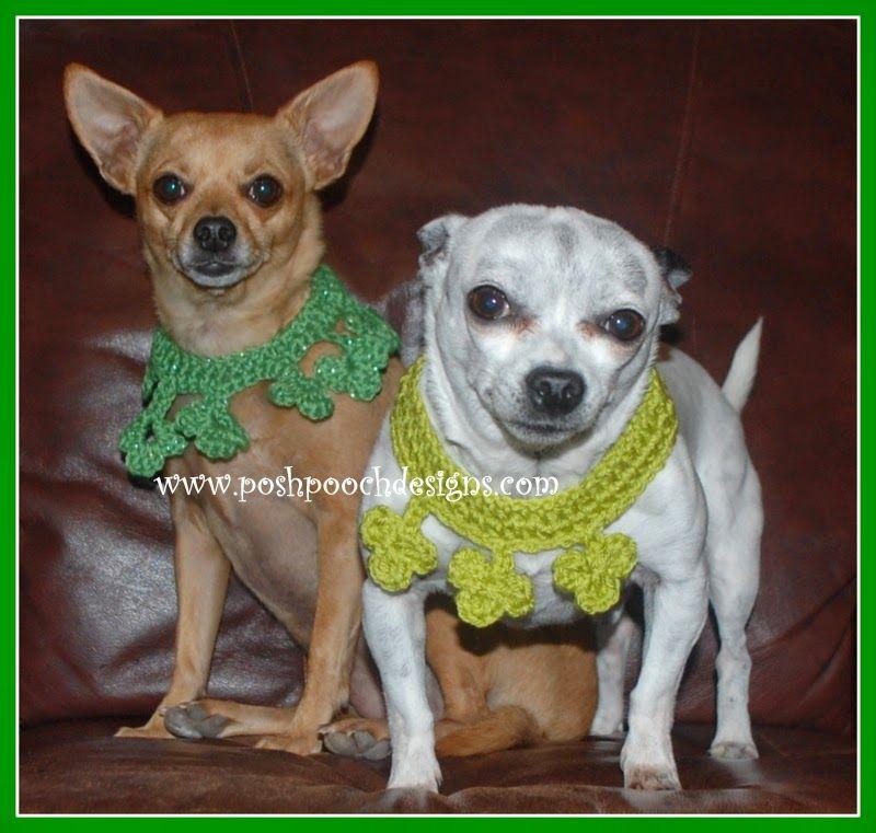 Posh Pooch Designs Dog Clothes Clover Dog Collar Crochet Pattern