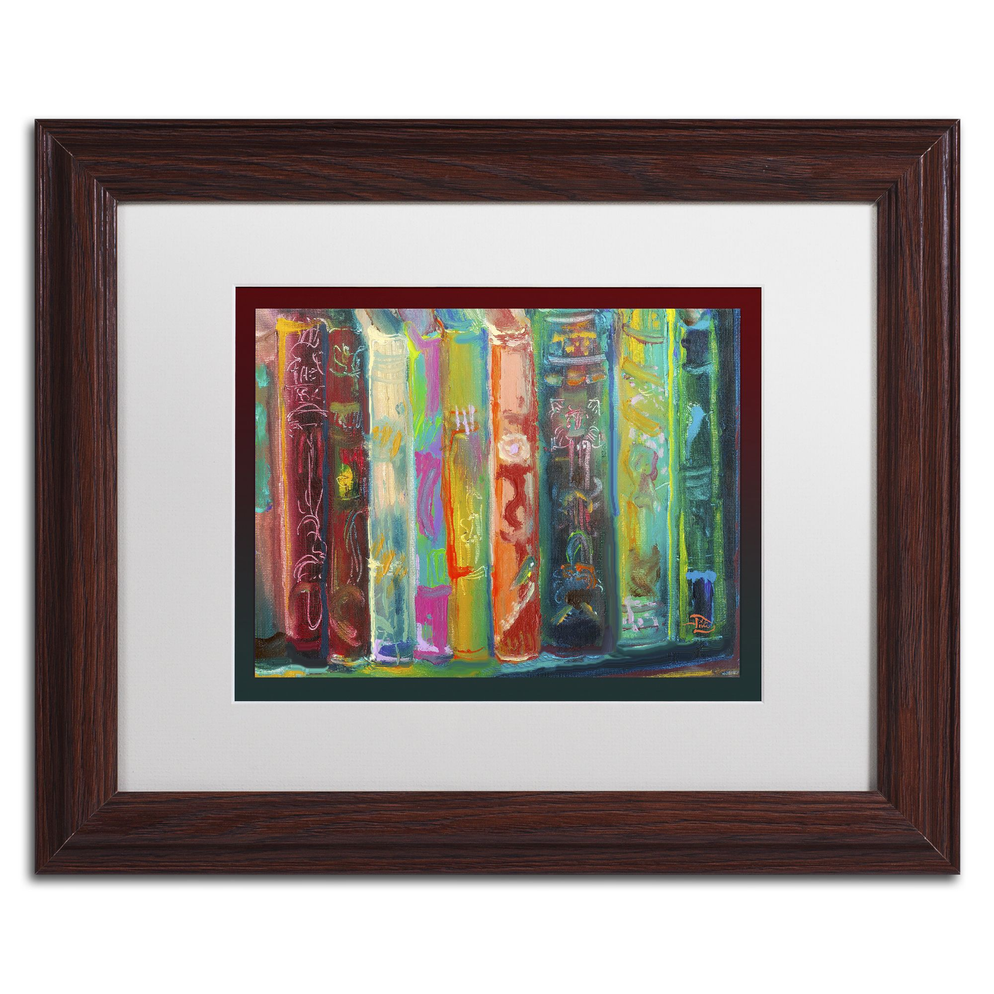 v devin bookends wood framed canvas art - Wood Frames For Canvas Paintings