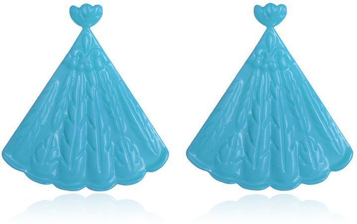 Mariah Rovery Brinco Leque Earrings