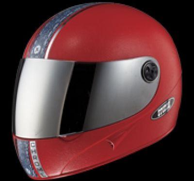484cbeab Safexbikes Motorcycle Superstore-HELMET CHROME WITH MIRROR VISOR FULL FACE  STUDDS