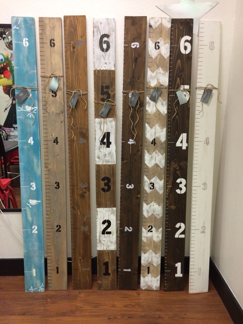 Diy growth charts rustic ruler giant jon brandt make me this