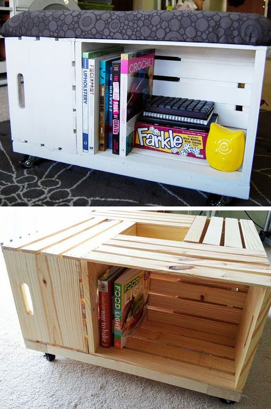 DIY Storage Ottoman | Click Pic for 12 Clever Space Saving ...