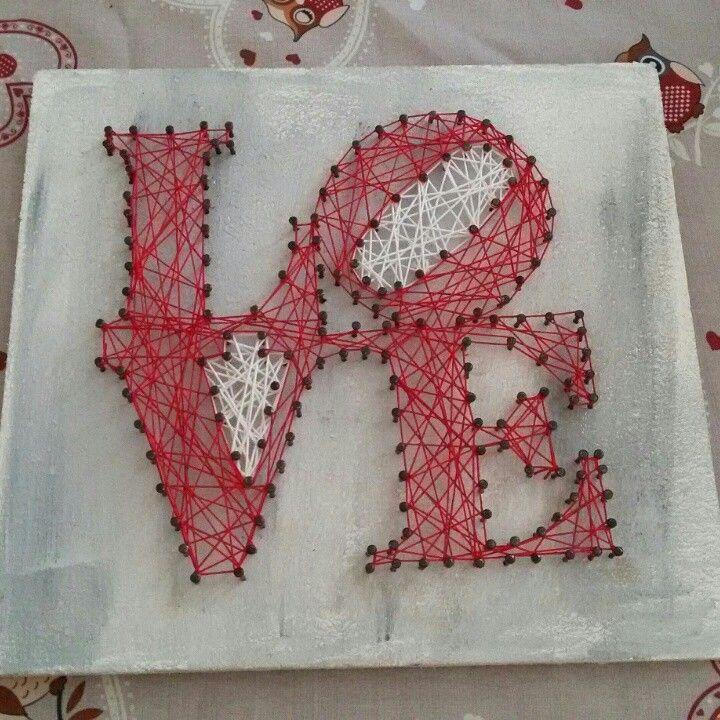 Love string art - quadretto grande 20x21 circa. È in vendita a 25€ mandatemi un messaggio se vi interessa! :)