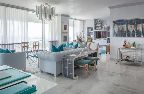 Love this silvery gray stained concrete floor my style - Concrete floor living room ...
