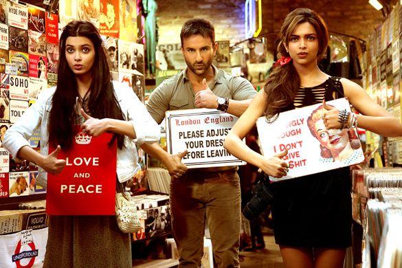 Cocktail Movie Stills With Saif Ali Khan Deepika Padukone And Diana Penty Cocktail Movie Cocktail Songs Bollywood