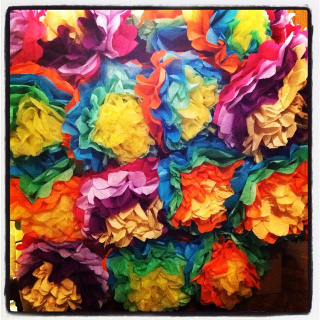 mexican tissue paper flowers Learn how to make this bold and beautiful crepe paper flower mirror diy to  diy  crepe tissue paper flower mexican fiesta mirror wedding.