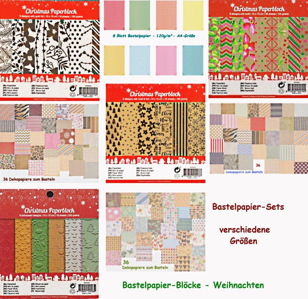 Bastelpapier Weihnachten.Bastelpapier Sets Bastelpapier Blöcke Weihnachten