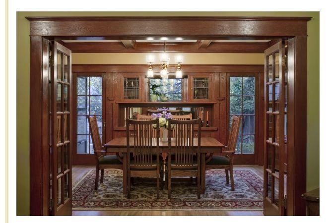 craftsman dinning room