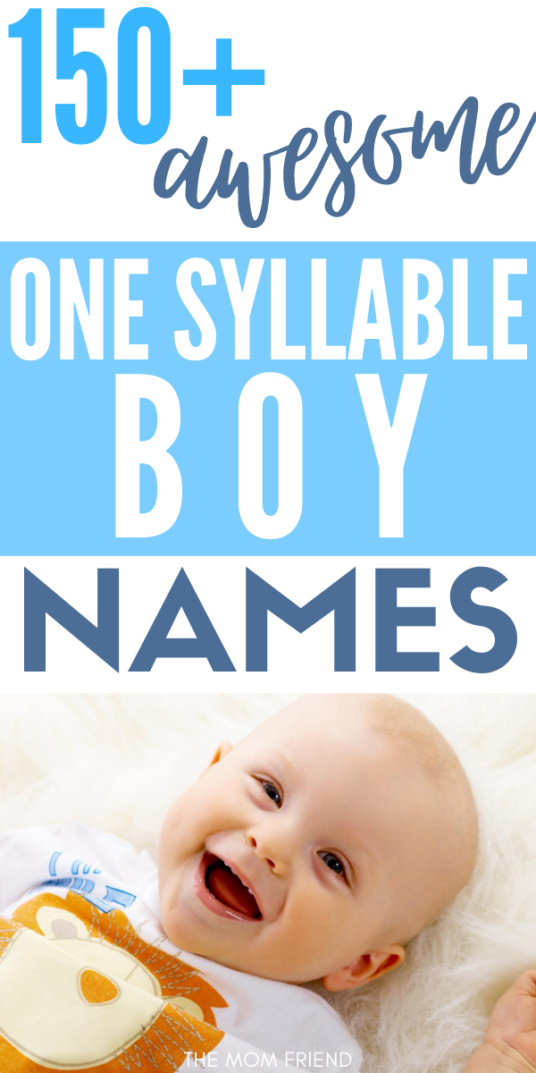 170 One Syllable Boy Names (for First or Middle Names) in ...