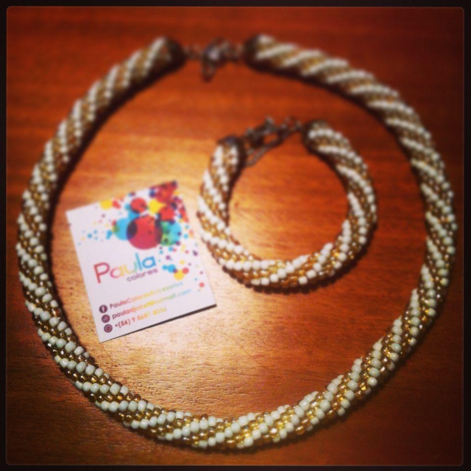 Conjunto en crochet rope