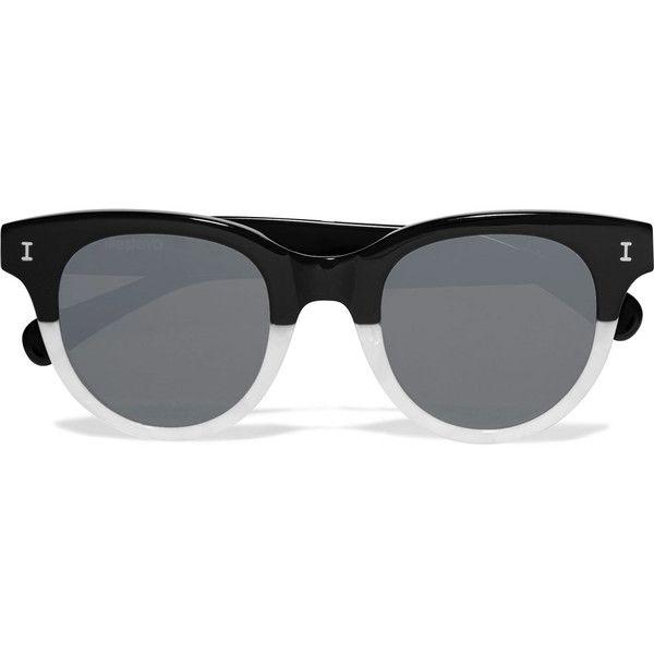 a7bd42c9c6c Illesteva Sicilia cat-eye two-tone acetate sunglasses (980 MYR) ❤ liked on Polyvore  featuring accessories