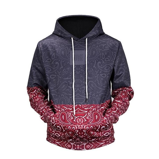 a6f2070cb3fa10 2018 Fashion Floral Hooded Sweater in 2019