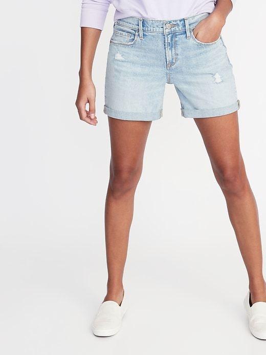 1a78064539 Slim Distressed Denim Shorts for Women - 5-inch inseam in 2019 ...