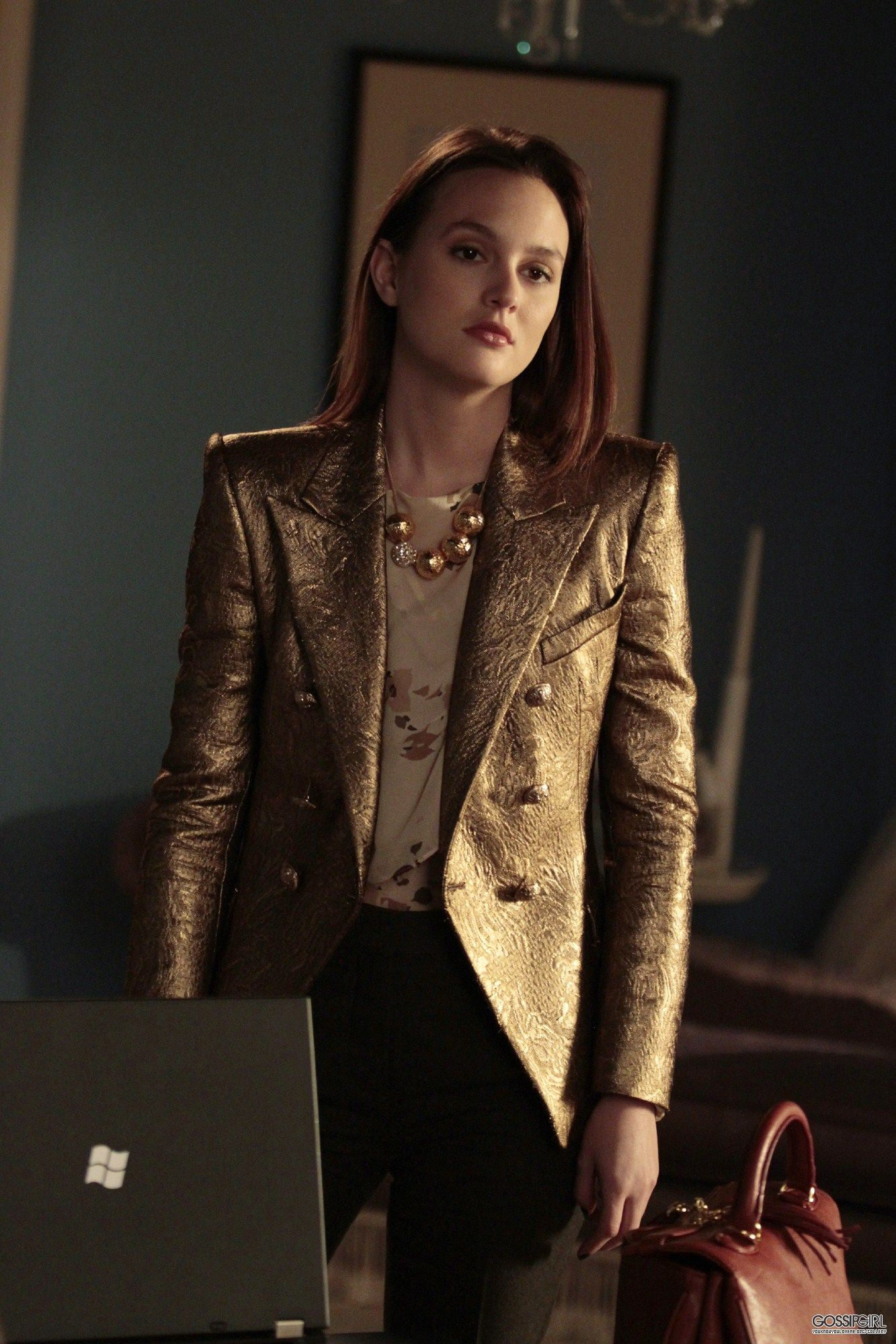 Schon Blair Waldorf Gold Power Suit