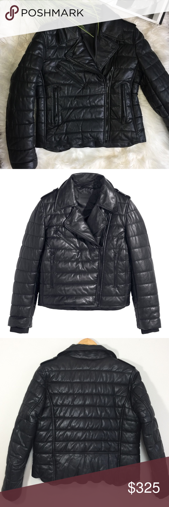 ffec56641 Alexander Wang x HM Leather Moto Puffer Jacket Chic and edgy black ...