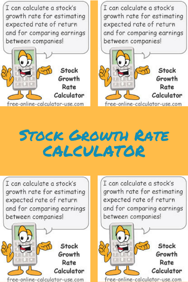 This Free Online Stock Growth Rate Calculator Will Calculate The Annualized Percentage Of A Company S Earnings Per Share Over Time