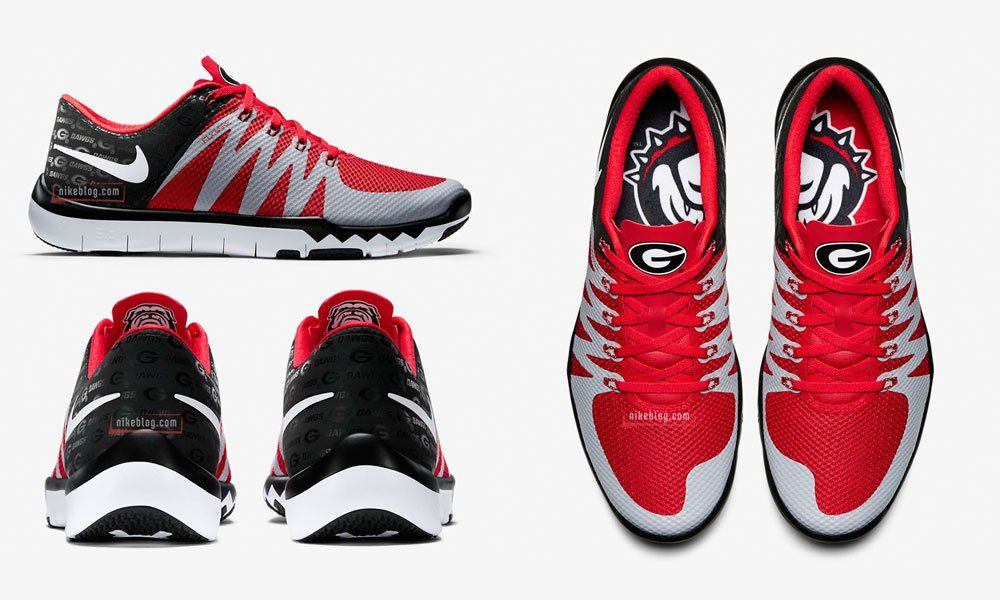 georgia bulldog nike shoes nike free trainer 5 0 week zero uga shoes set for 4859