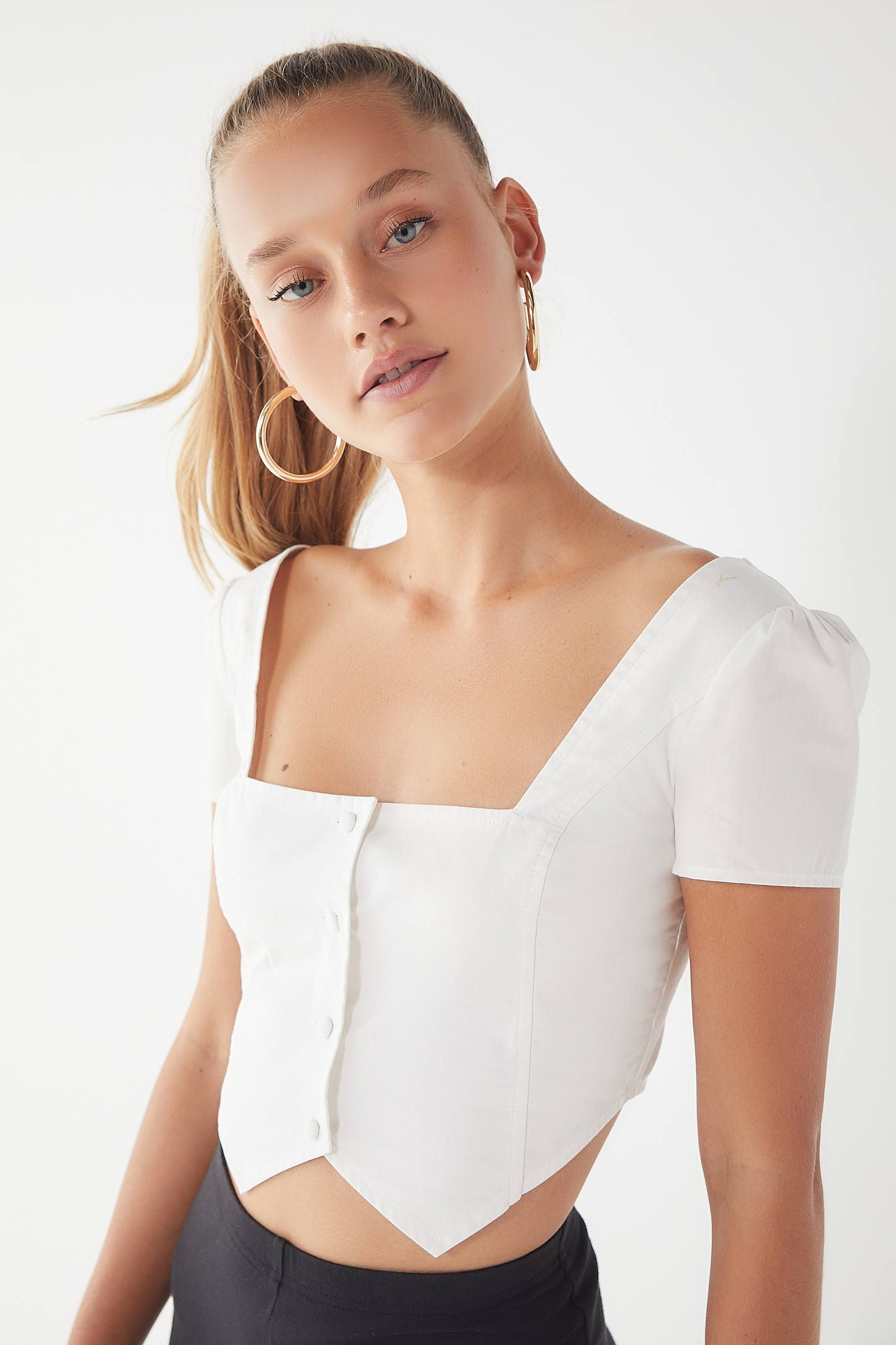 1c3bc69802de1f I.AM.GIA Ankaa Square-Neck Cropped Top in 2019