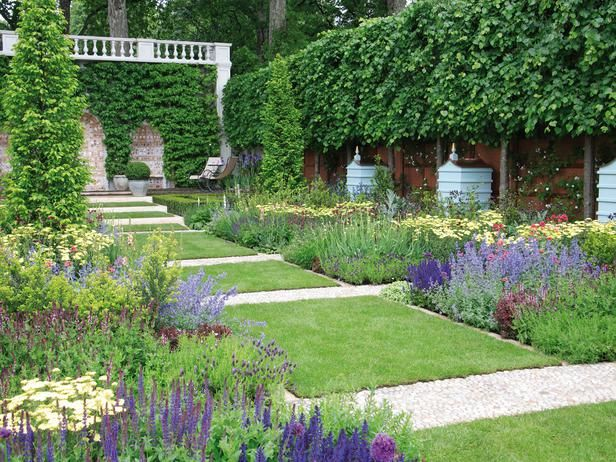 Pictures of formal english gardens gravel path english for Formal landscape design
