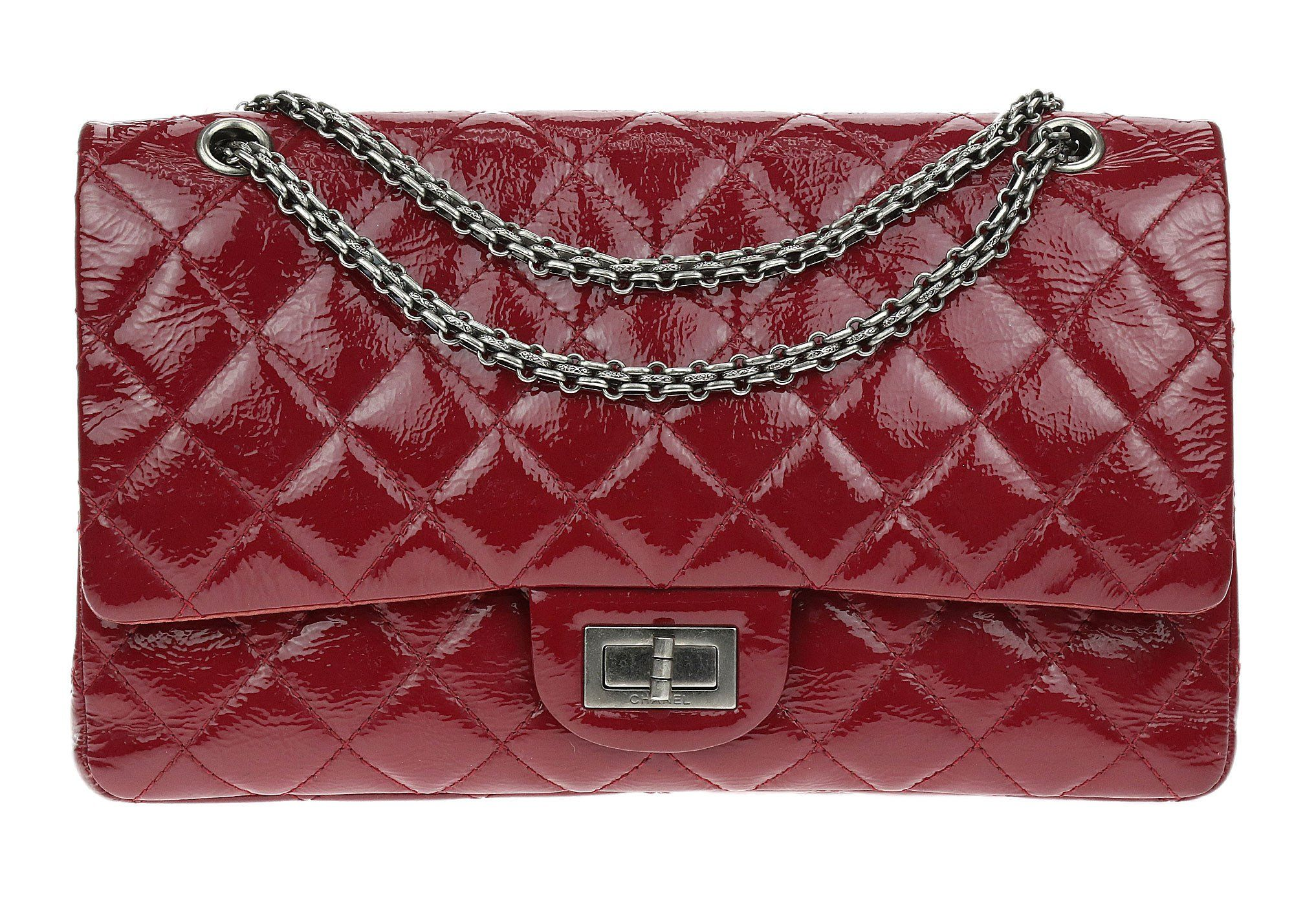 b2162d894e65 Chanel Red Glazed Aged Calfskin Quilted 2.55 Reissue Double Flap Bag 227