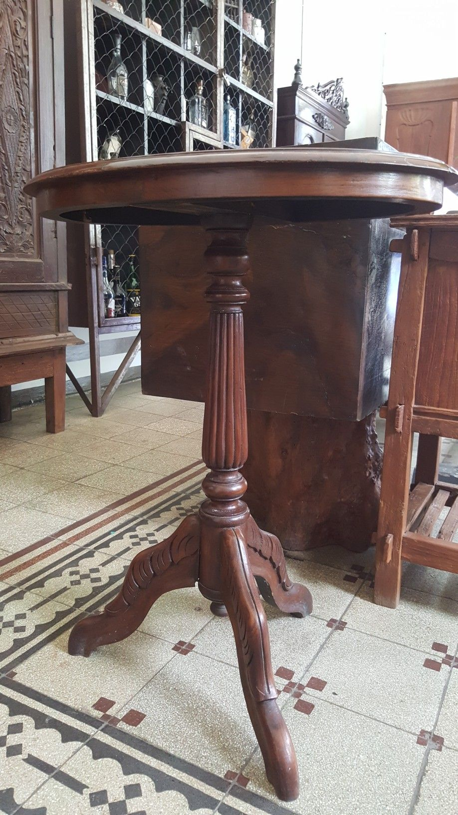 For Sale Meja Sudut Raffles Jati Solid Teak Wood Corner
