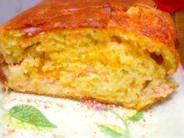 cake au saumon fumé, tomates cerises, mozzarella et aneth
