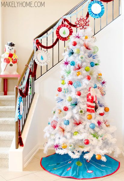 im dreaming of a 1960s inspired brightly decorated white christmas tree - White Christmas Tree On Sale