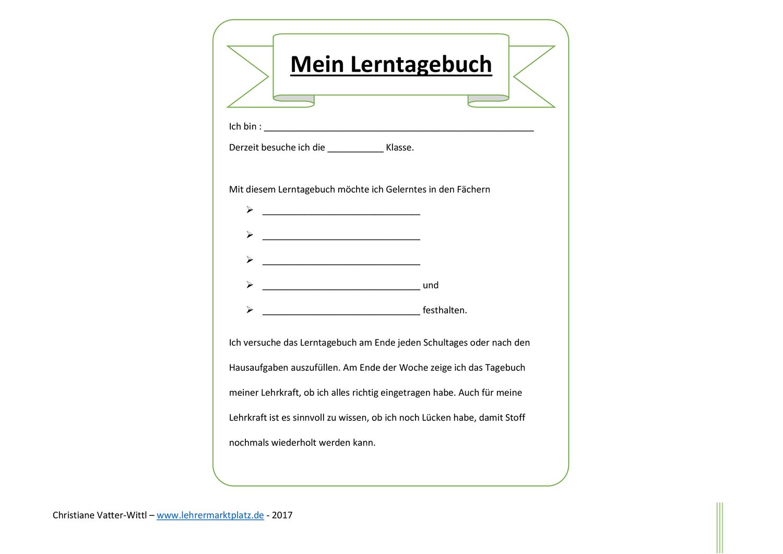 Methodik Didaktik Lerntagebuch 4teachers De