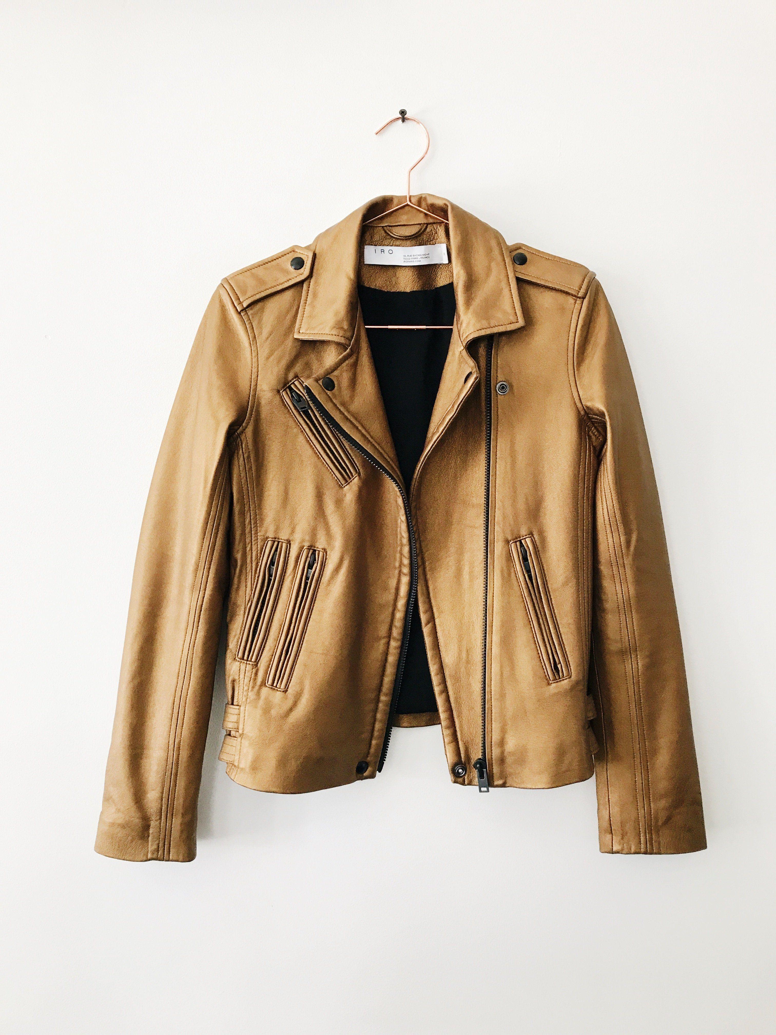 Iro Han Leather Jacket Gold Leather Jacket Jackets Fashion Teenage [ 4032 x 3024 Pixel ]