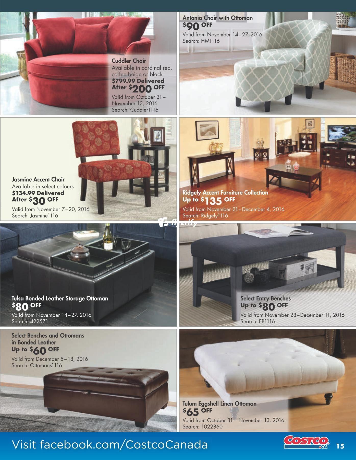 Costco Online Catalogue November 1 To December 31 Canada Furniture Costco Furniture Furniture Collection