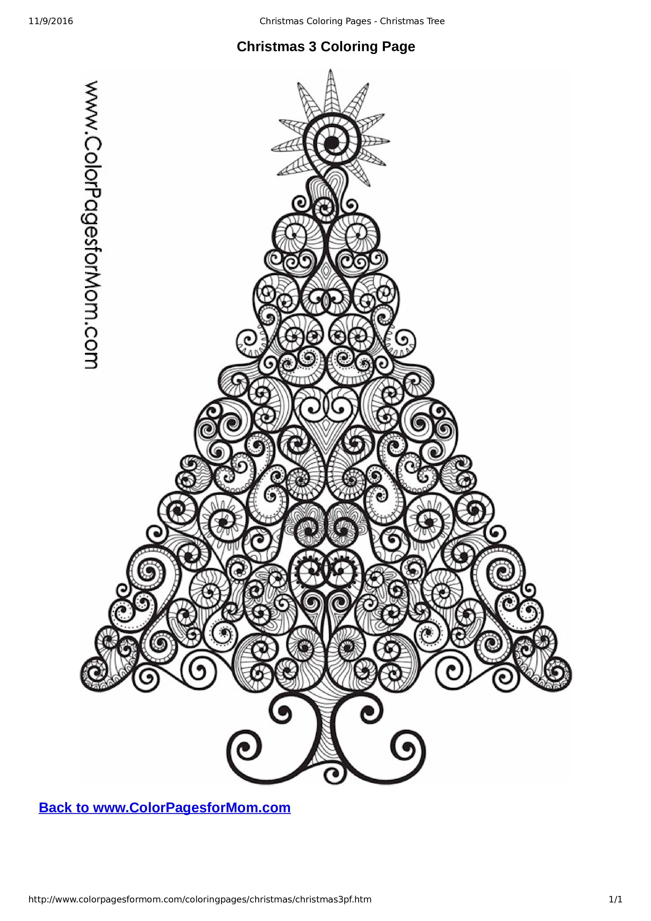 Christmas Coloring Page For Adults  How To Create A