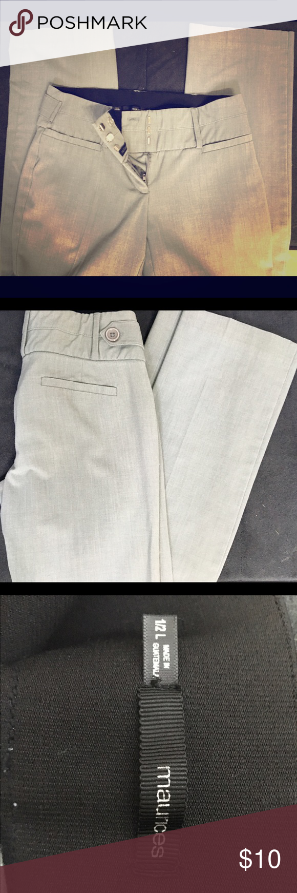 Maurice's Grey Work Slacks Gray, light wear but great shape! Size 1/2 L Maurices Pants Trousers