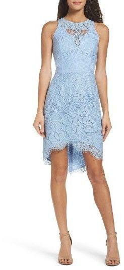 Women s Adelyn Rae Lace High low Sheath Dress  periwinkle  dress  blue 743279a9be